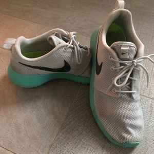 Teal and Grey Nike Rose 1